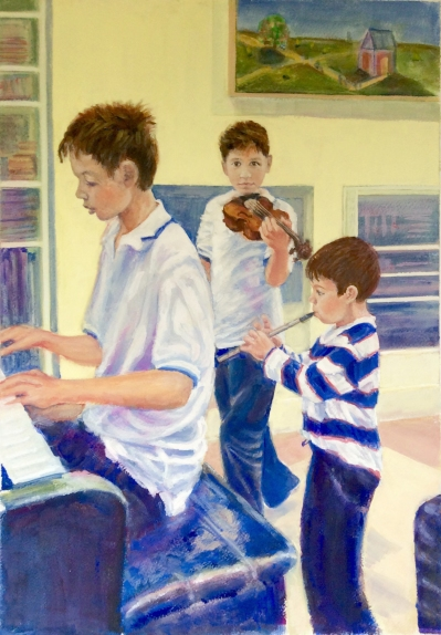 three-young-musicians